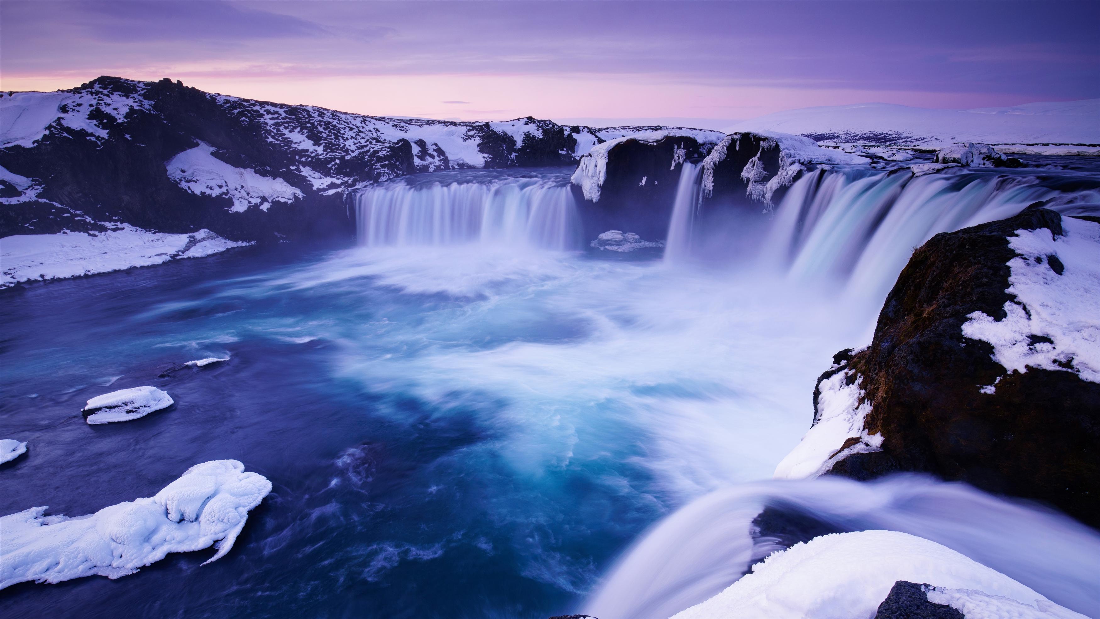 Водопад Годафосс Исландия обои скачать