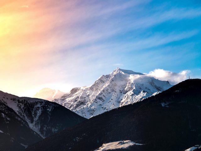 Закат горы