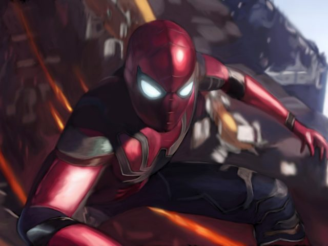 Человек паук в Мстители бесконечная война искусства