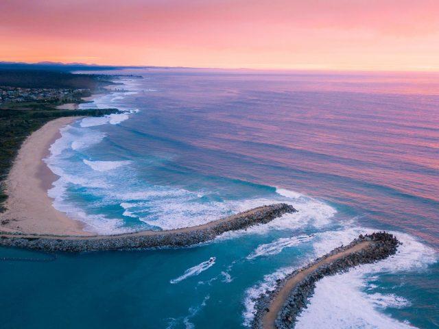 Закат океан пляж