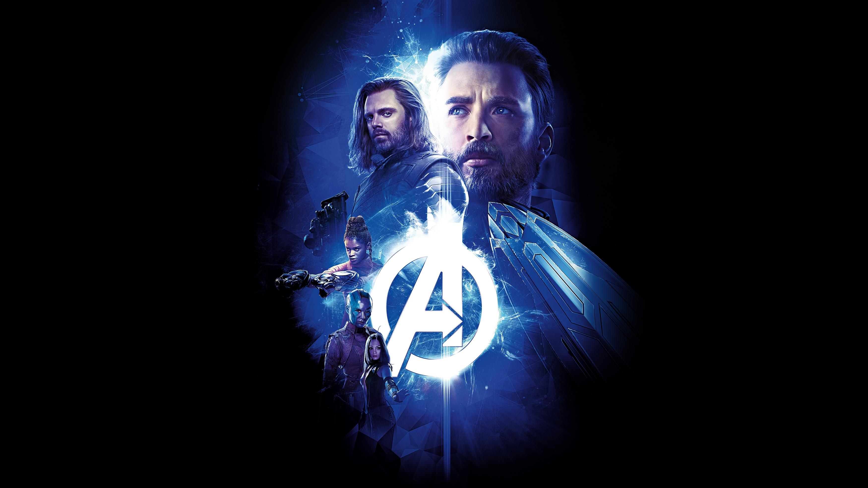 Мстители бесконечная война, Капитан Америка зимний солдат туманность богомол сюрикен обои скачать