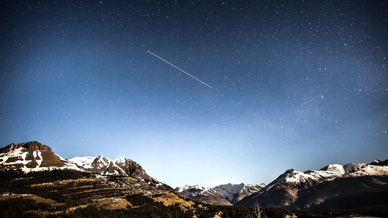 Вечерний пейзаж горы обои скачать