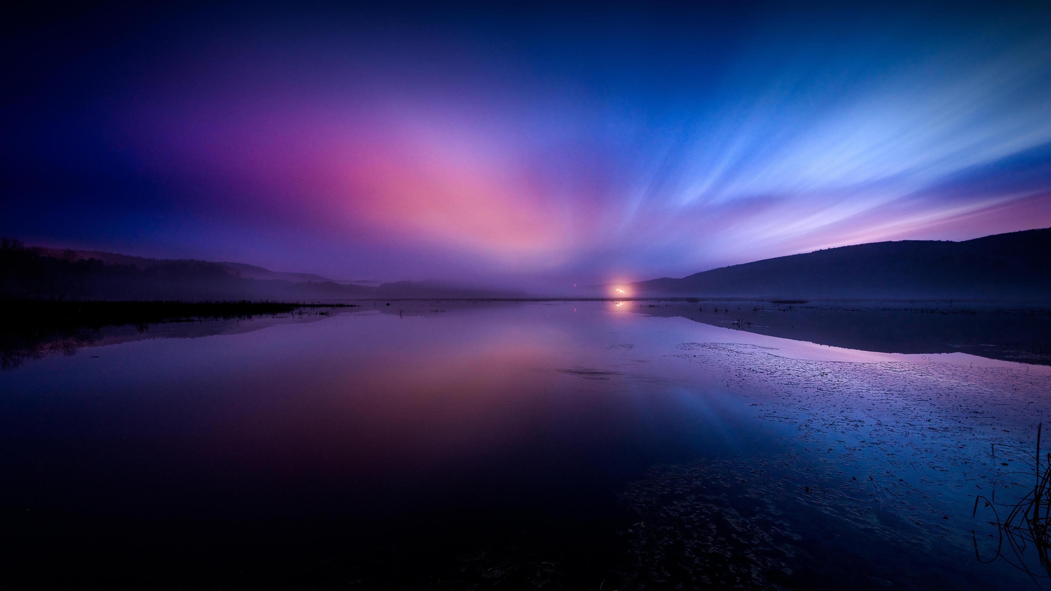 Отблески закатного неба обои скачать