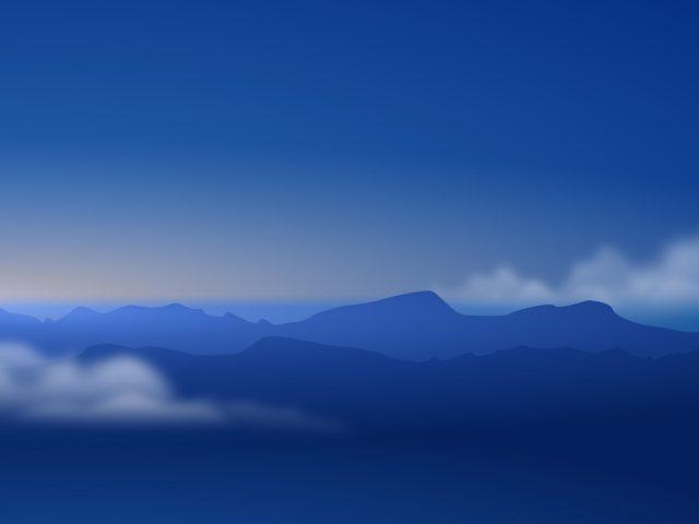 Пейзаж Голубых гор