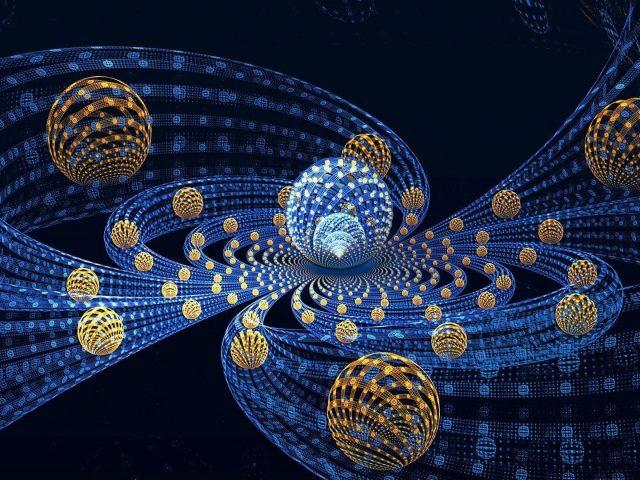 3D абстрактные фрактальные шары летают реферат
