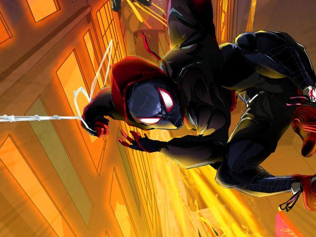 Человек-паук в паук-стих произведения искусства