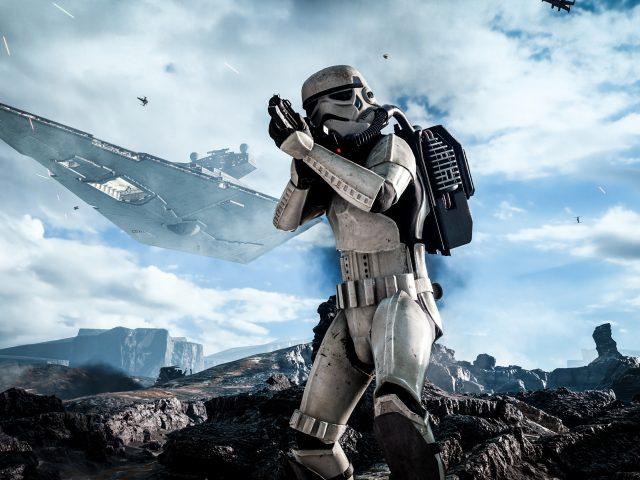 Звездные войны Battlefront штурмовика.