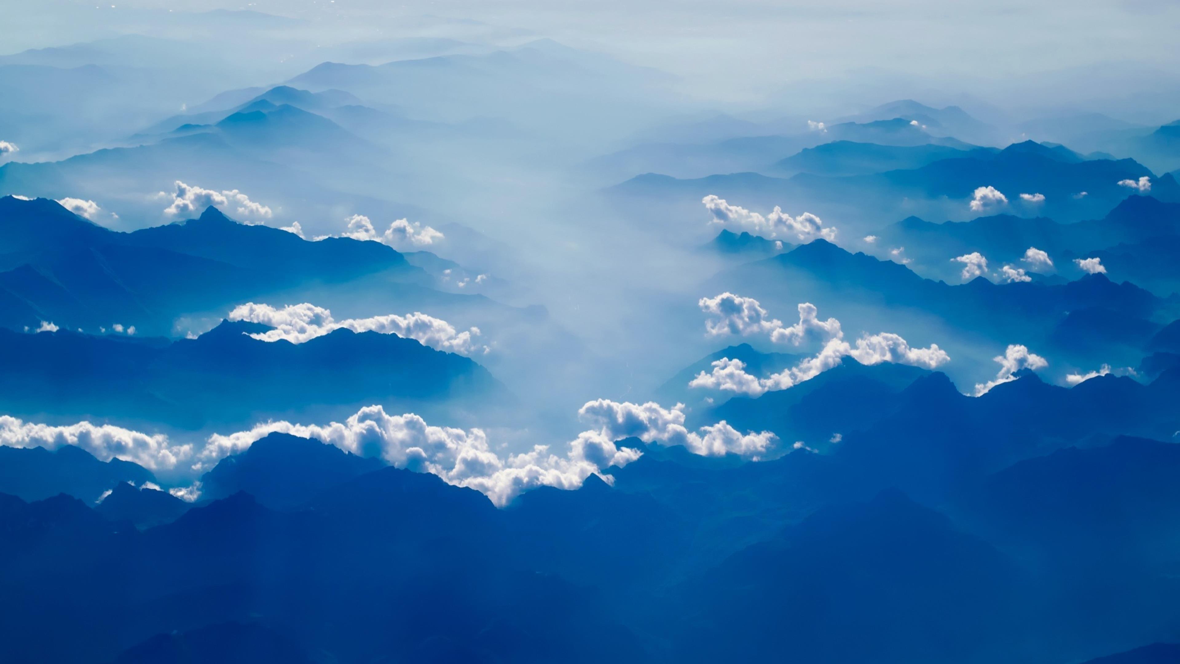 Горы сельская местность туман облака дымка небо восход солнца природа обои скачать