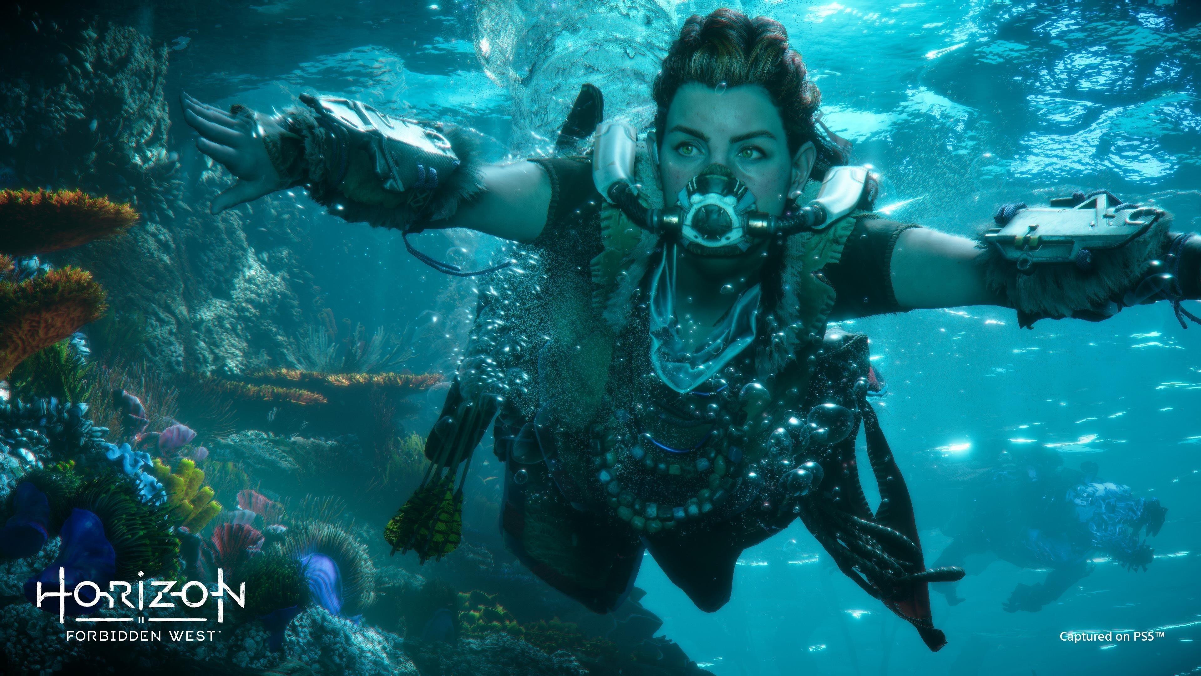 Горизонт запретный Запад под водой обои скачать