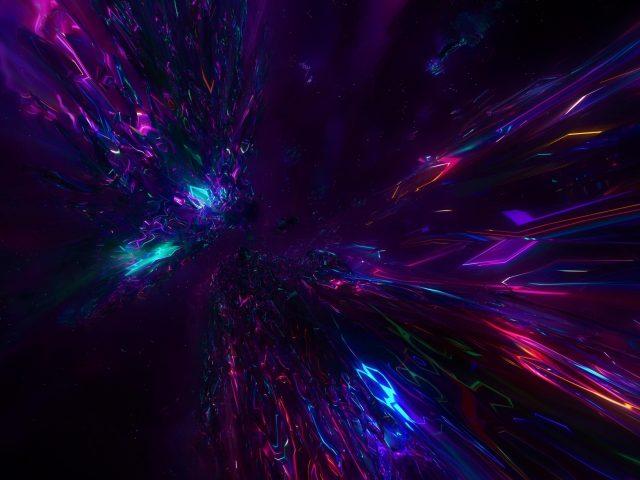 Красочное пространство цифровое искусство абстракция