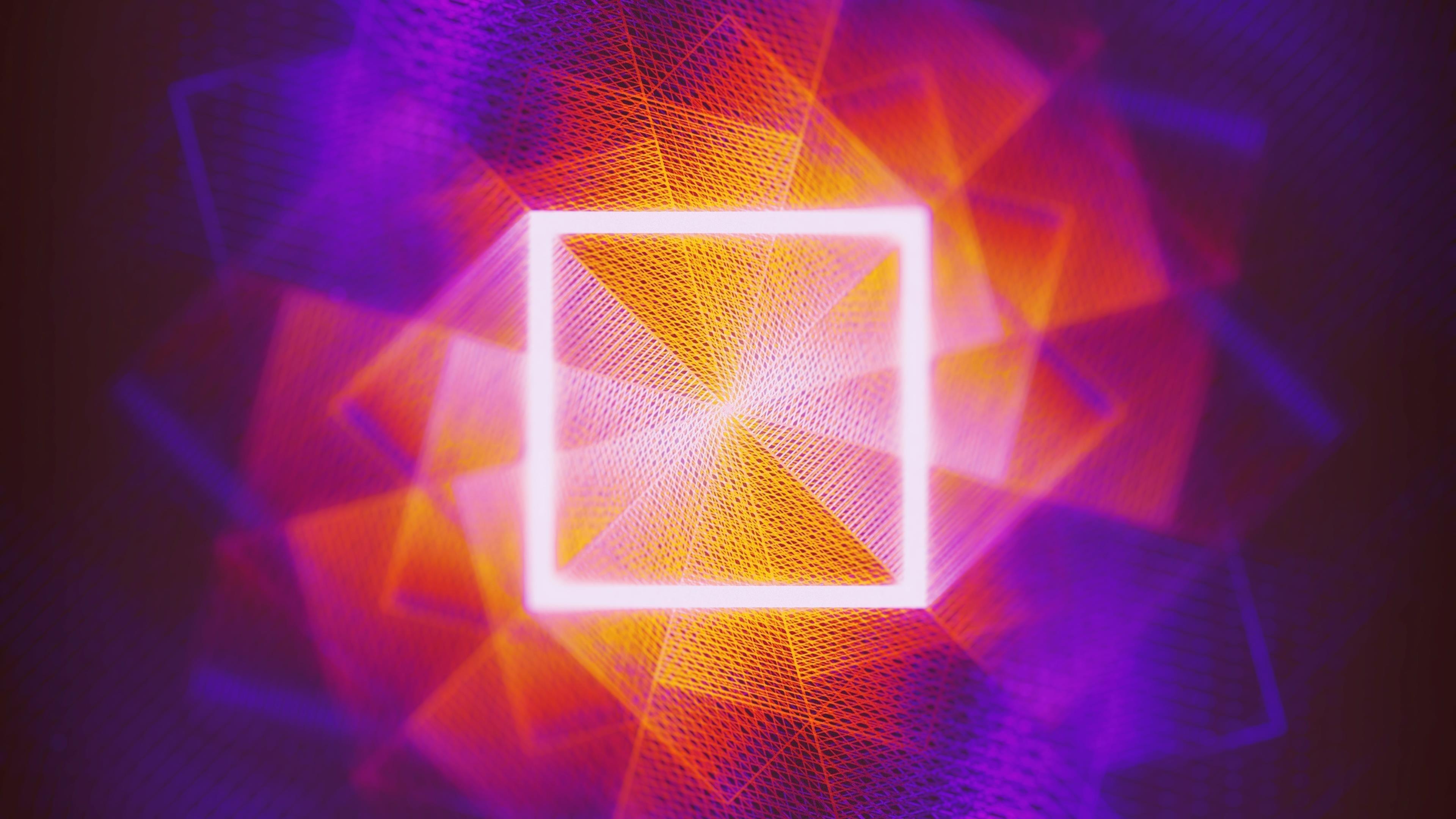Абстрактные квадраты обои скачать
