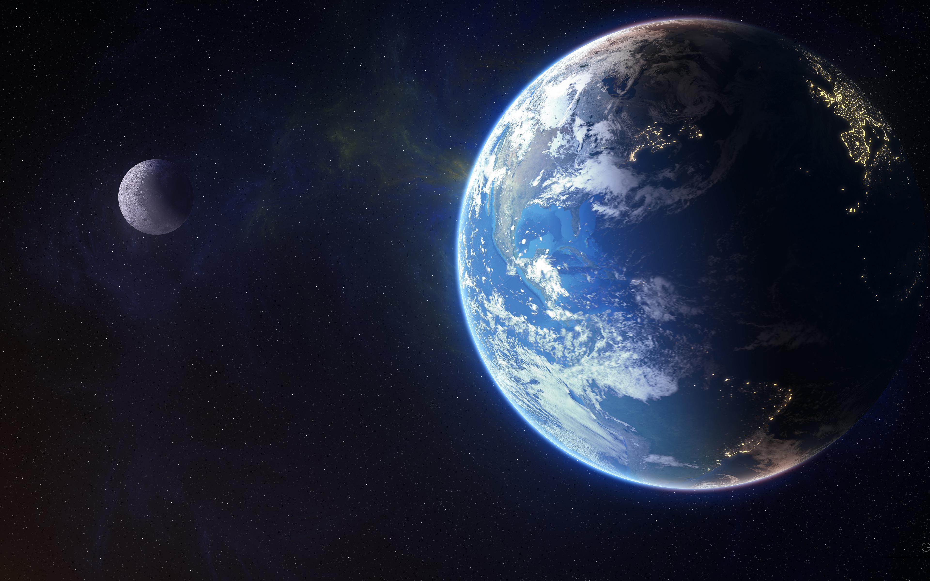 Галактическая земля обои скачать