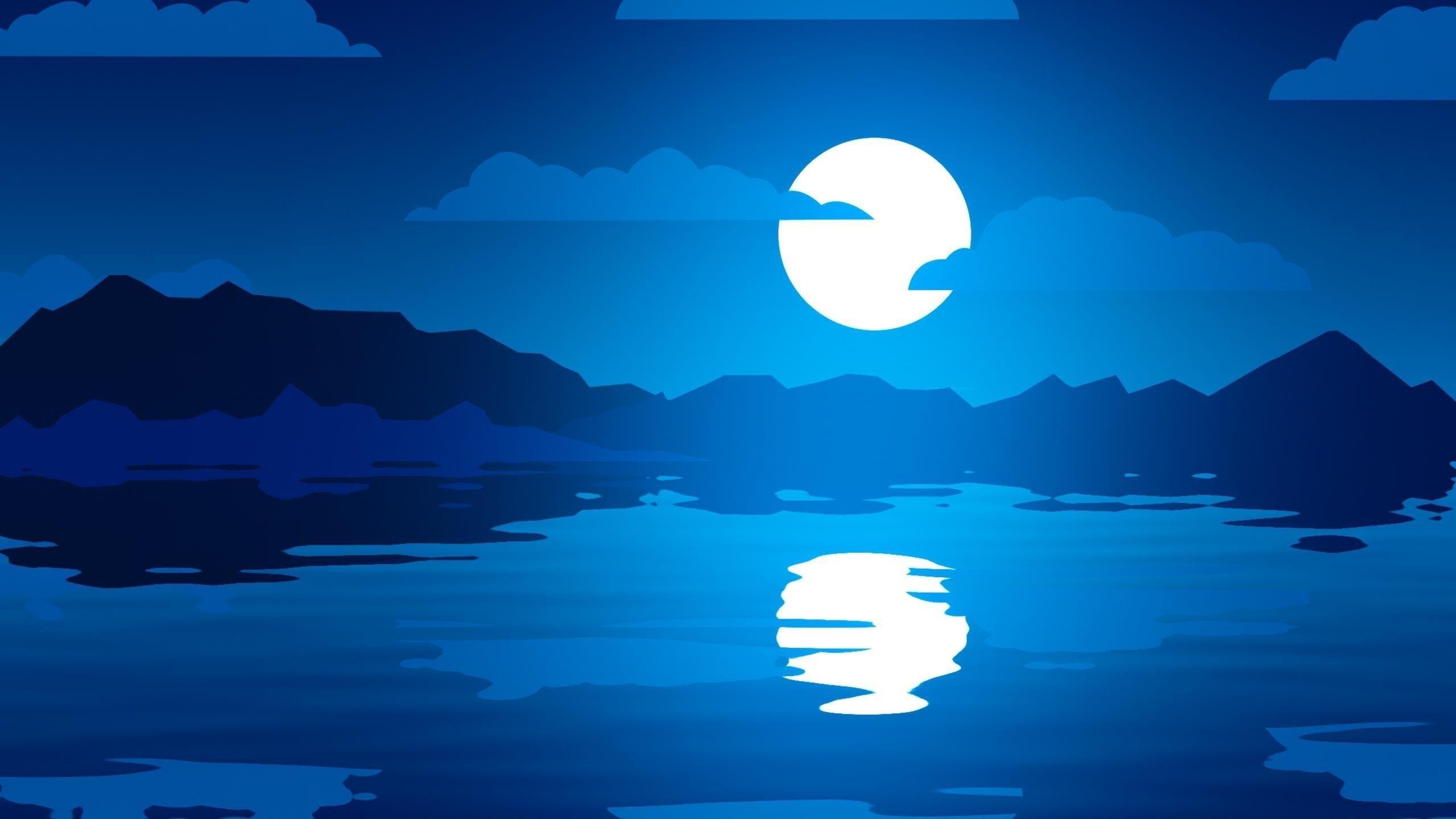 Лунные отражения обои скачать