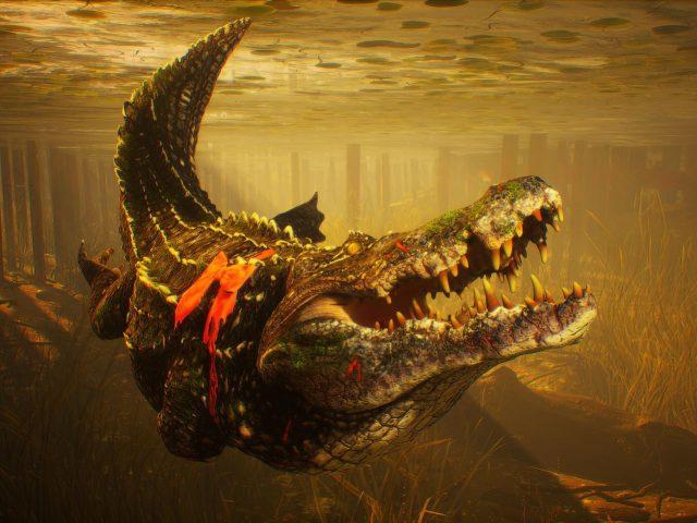 Людоед крокодил глубоководный