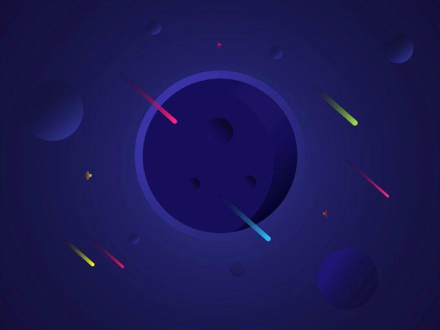 Солнечная система minimal blue art