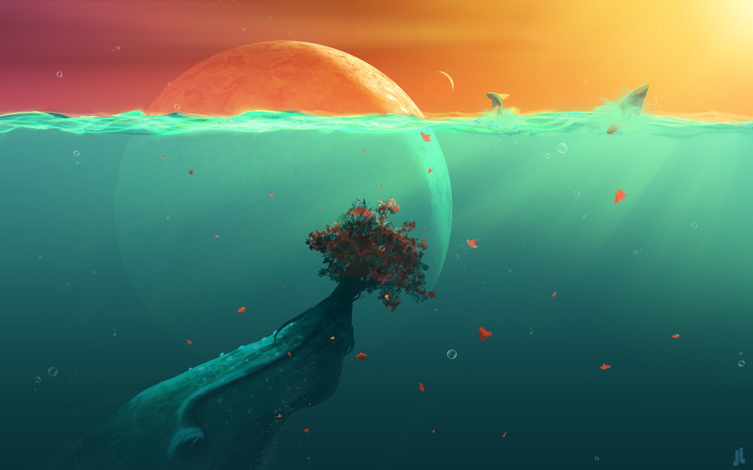 Подводная планета обои скачать