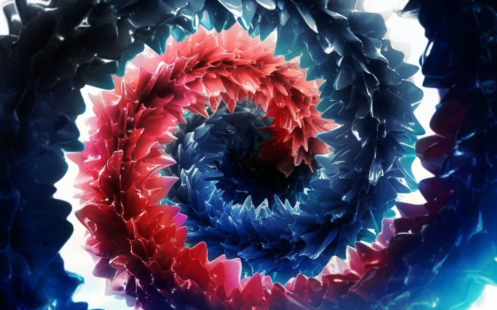Глубокие насыщенные цвета с абстрактными. обои скачать