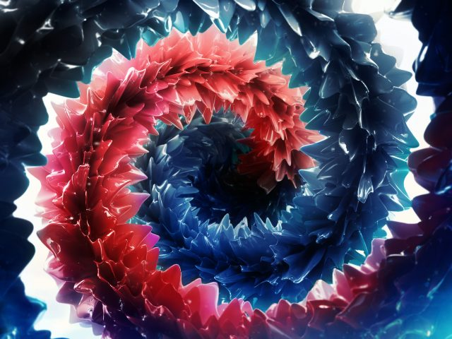 Глубокие насыщенные цвета с абстрактными.