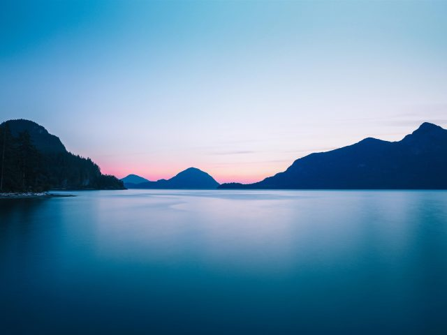 Провинциальный парк Порто Коув закат солнца