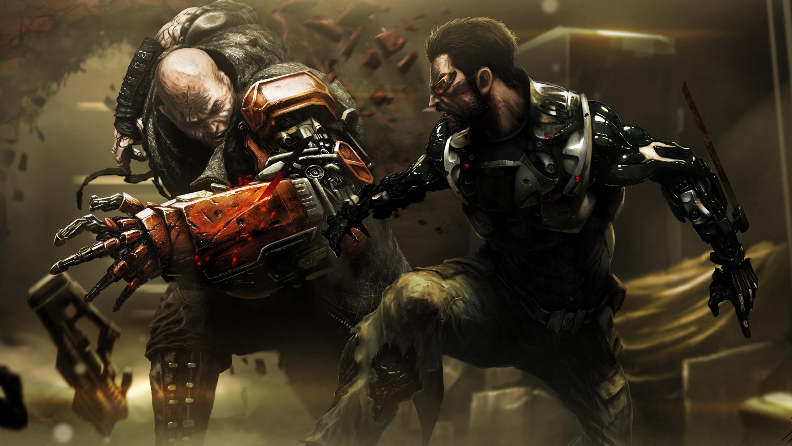 В Deus Ex человечество разделено концепт-арт. обои скачать
