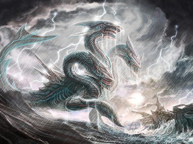 Фантастическое морское чудовище
