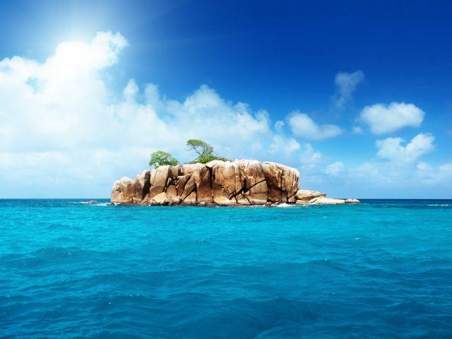 Остров,  океан,  природа