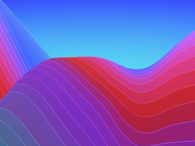 Абстрактные красочные волны