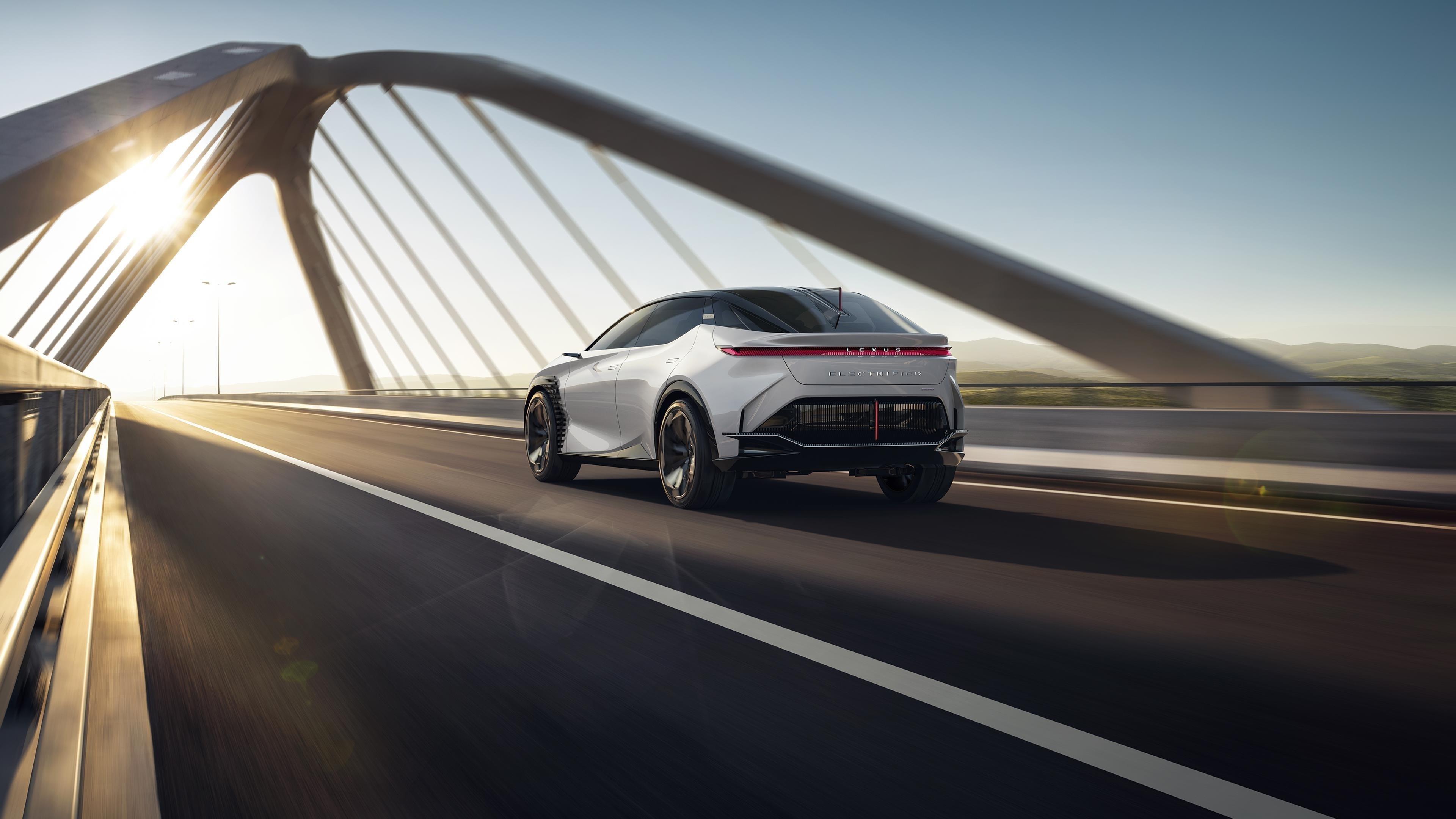 Lexus lf z электрифицирован 2021 2 автомобиля обои скачать