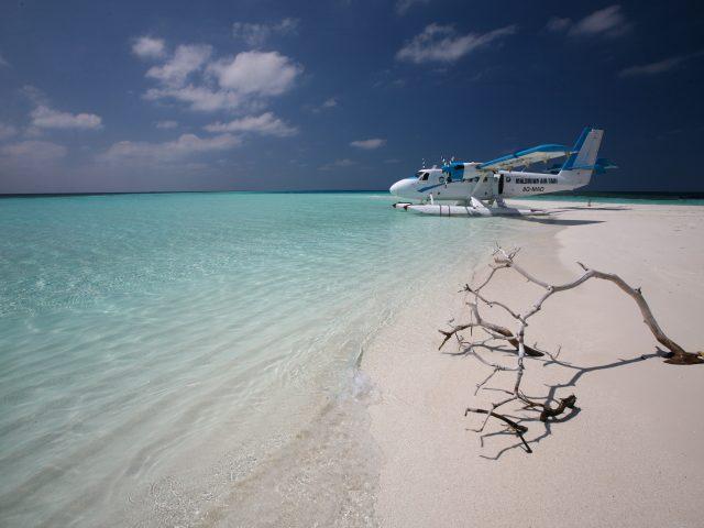 Мальдивы,  такси,  самолет,  океан