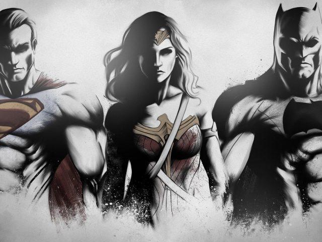 Супермен чудо женщина Бэтмен фан-арт