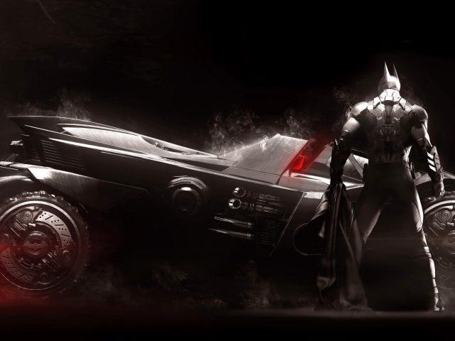 Batman arkham knight batmobile.