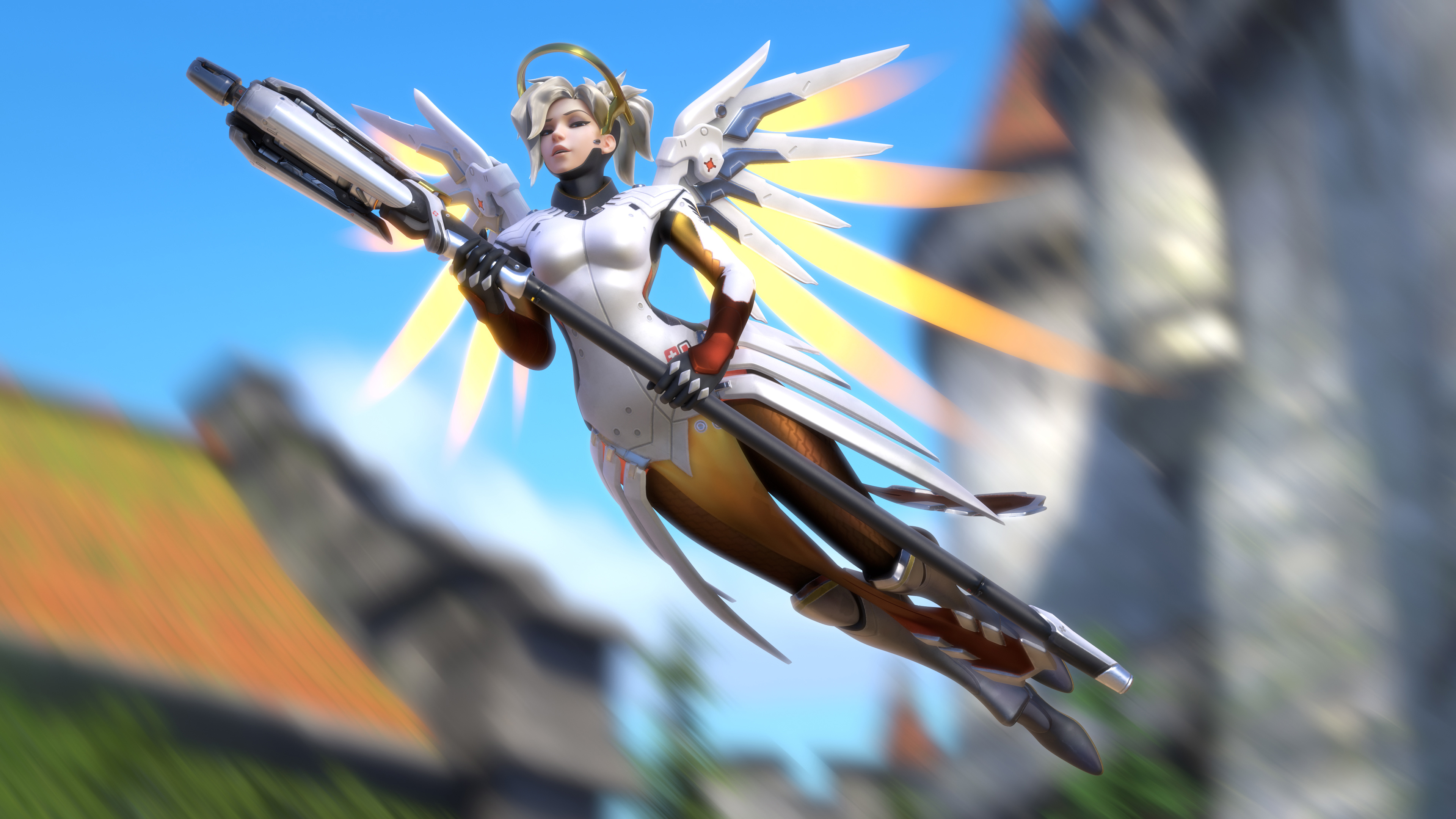 Overwatch mercy artwork. обои скачать
