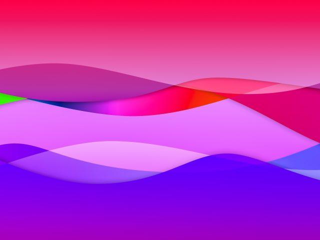 Яркие цветные волны абстрактный узор