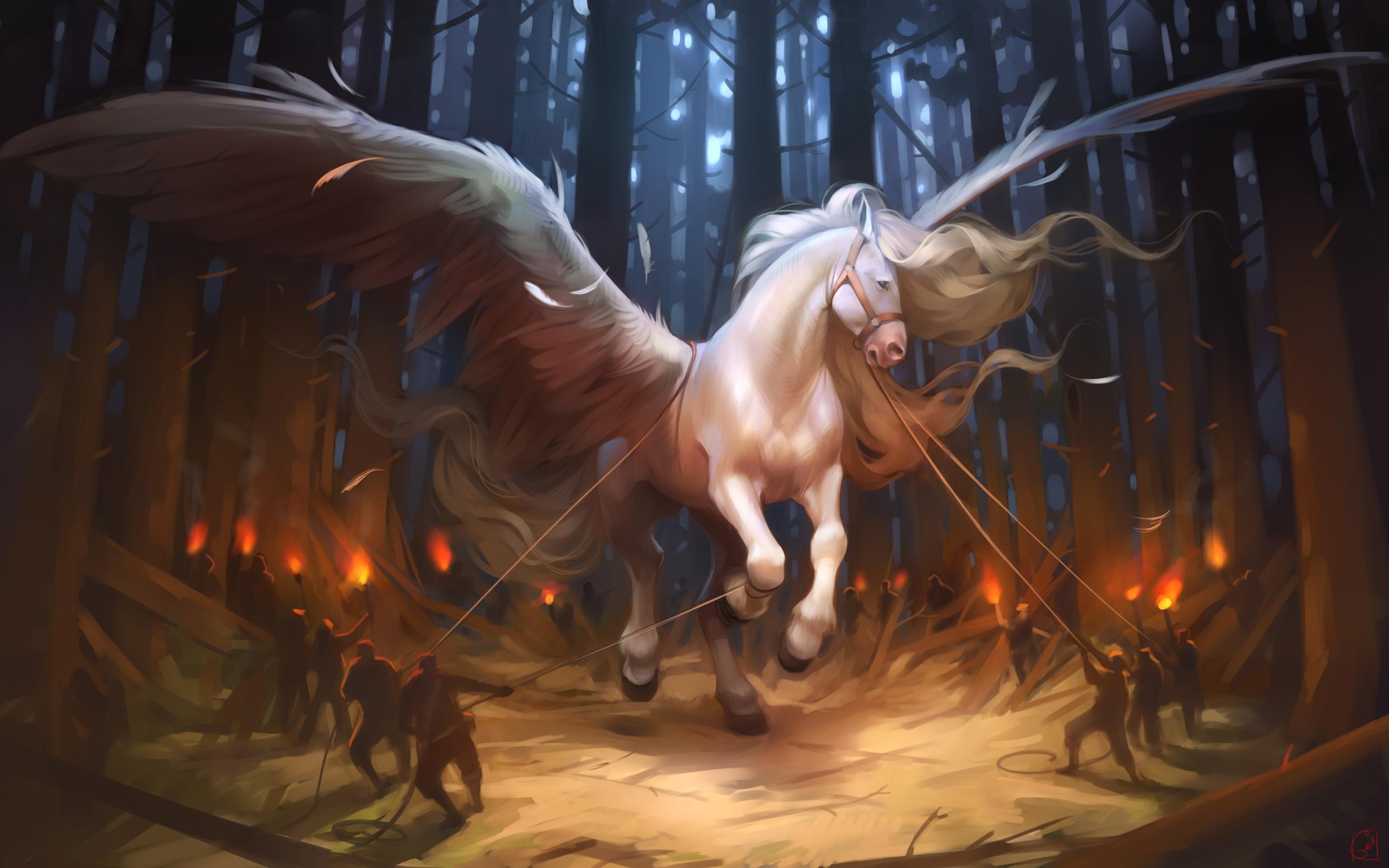 Пегаса лошадь. обои скачать
