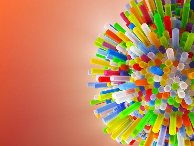 Разноцветные соломинки абстрактные