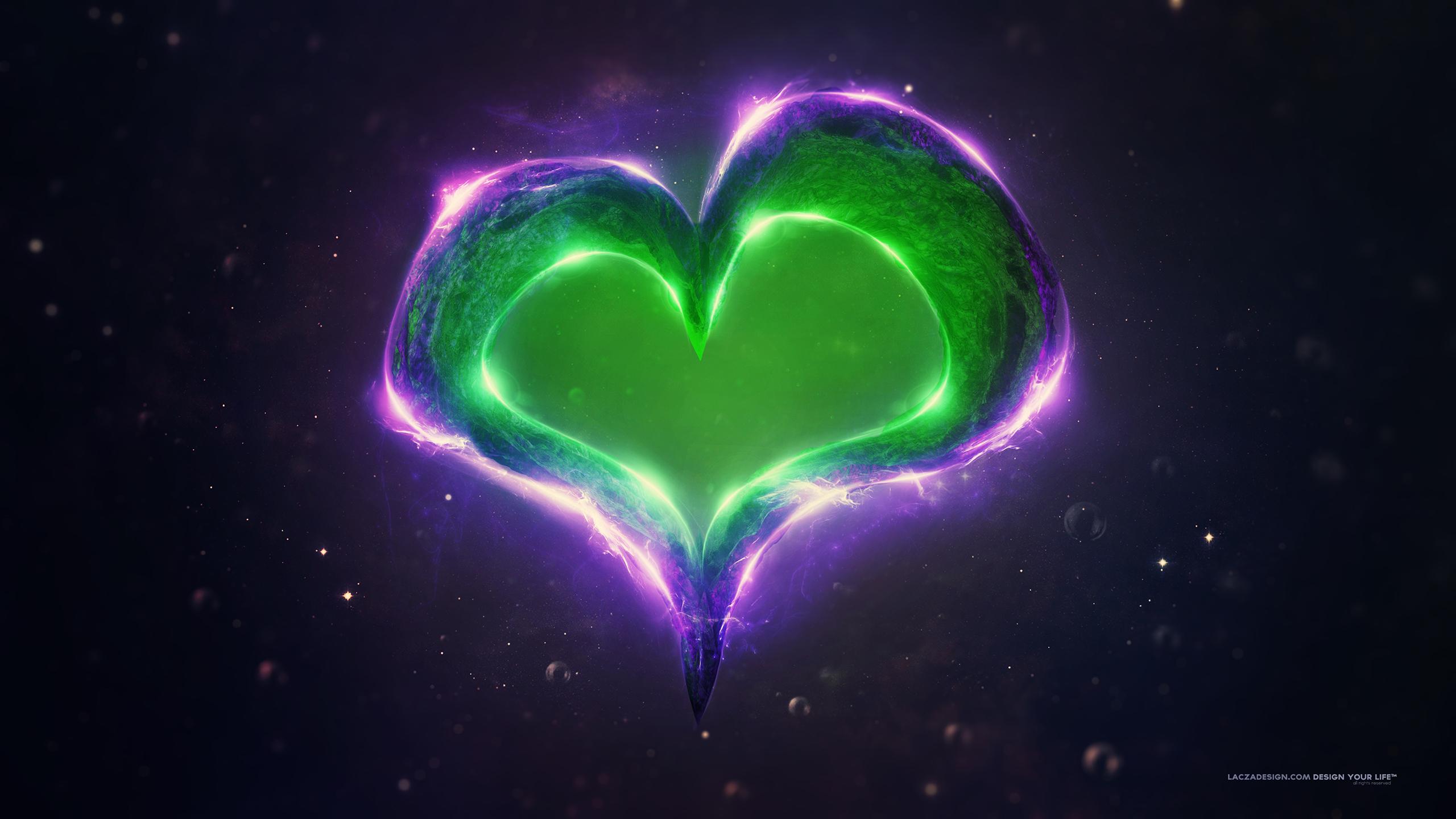 Зеленый фиолетовый обои скачать