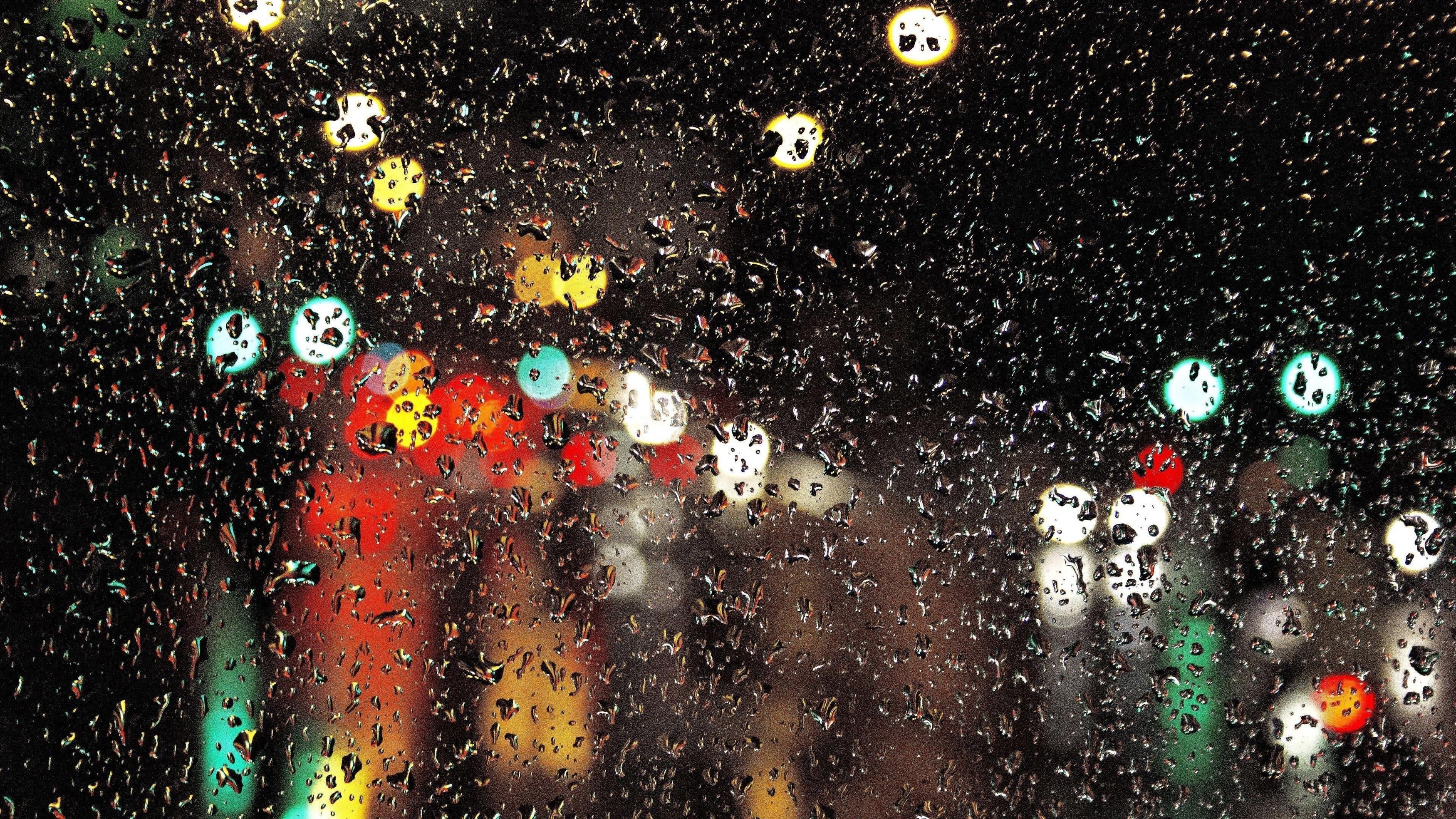 Стеклянные капли блики свет абстрактный обои скачать