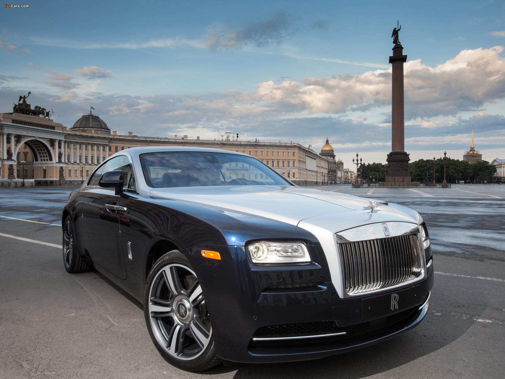 Rolls-Royce, Wraith, машина, передок обои скачать
