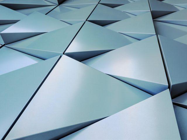 3d алюминиевая поверхность