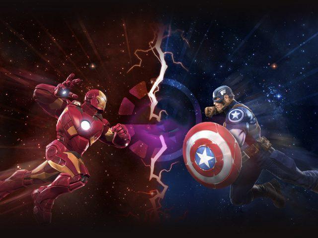 Железный человек против Капитана Америки произведения искусства
