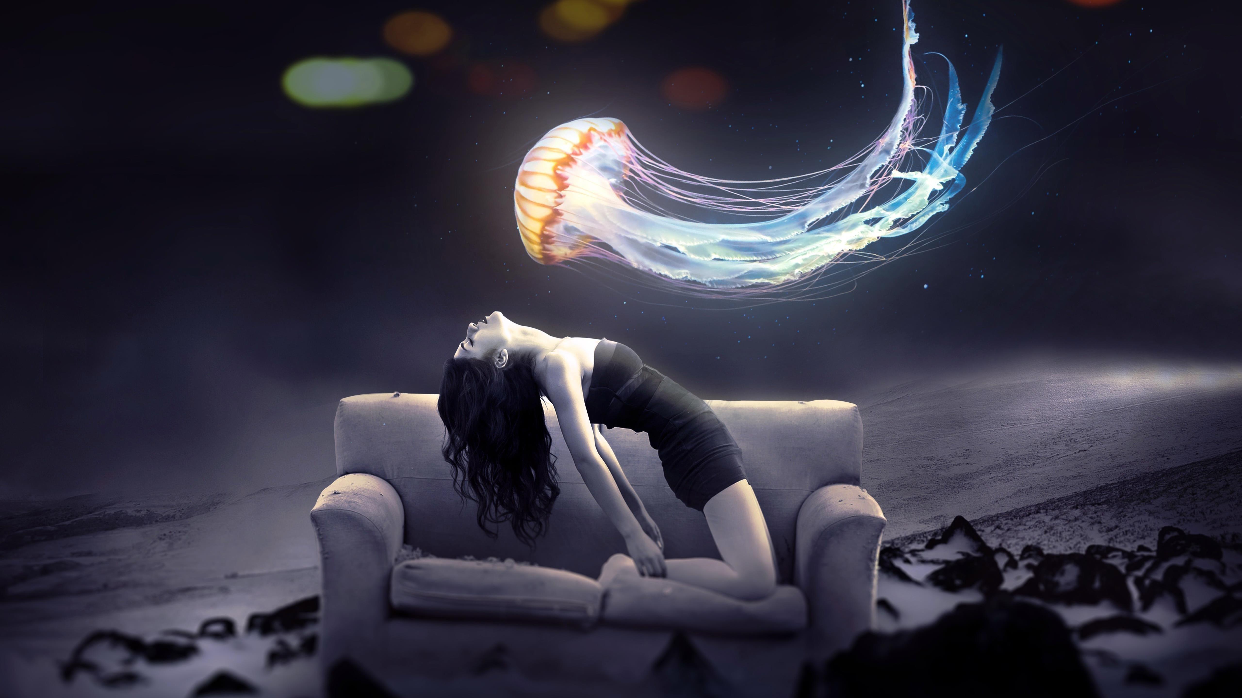 Девушка Медуза фантазия обои скачать