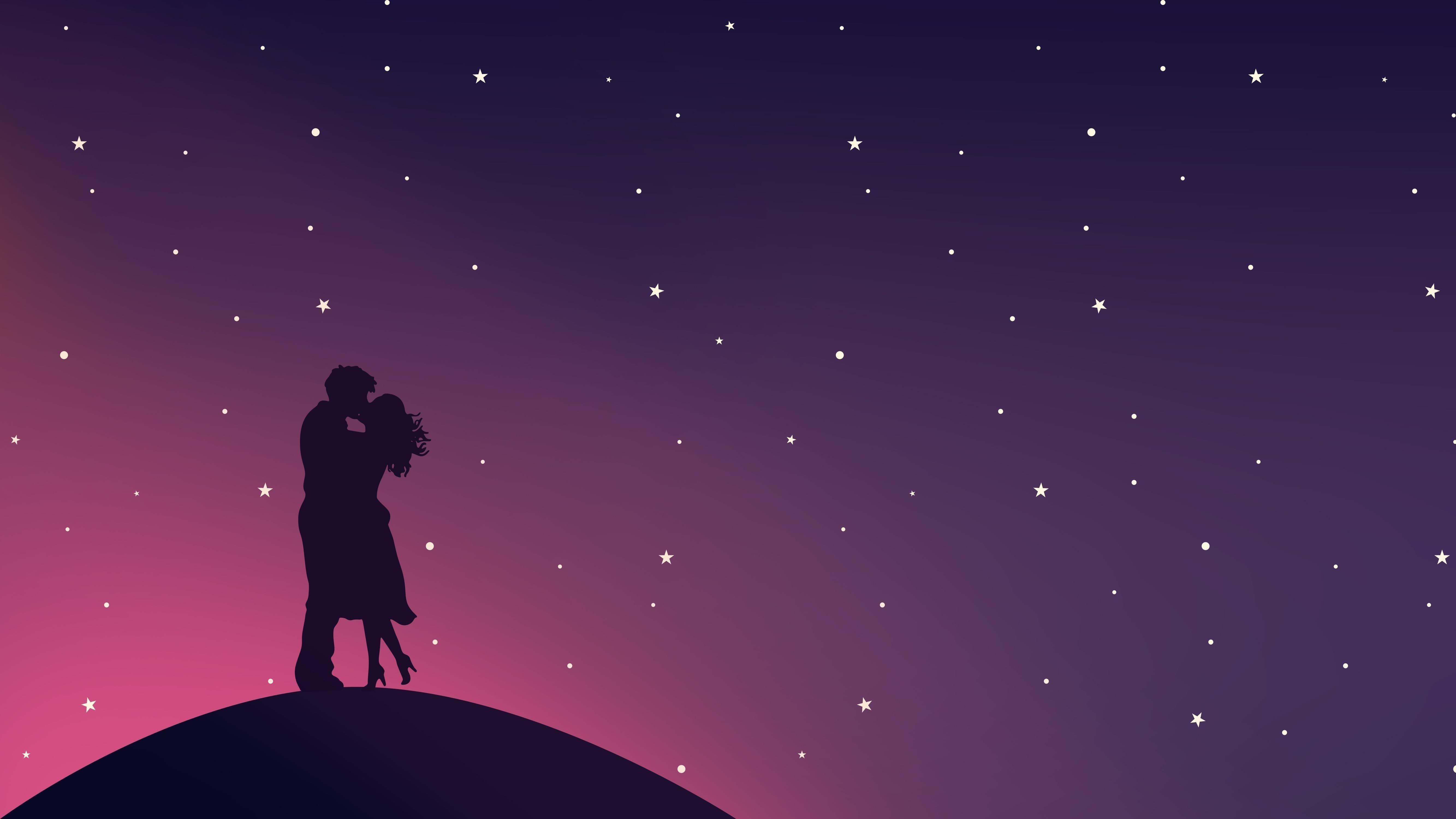 Романтический поцелуй пара любовь обои скачать