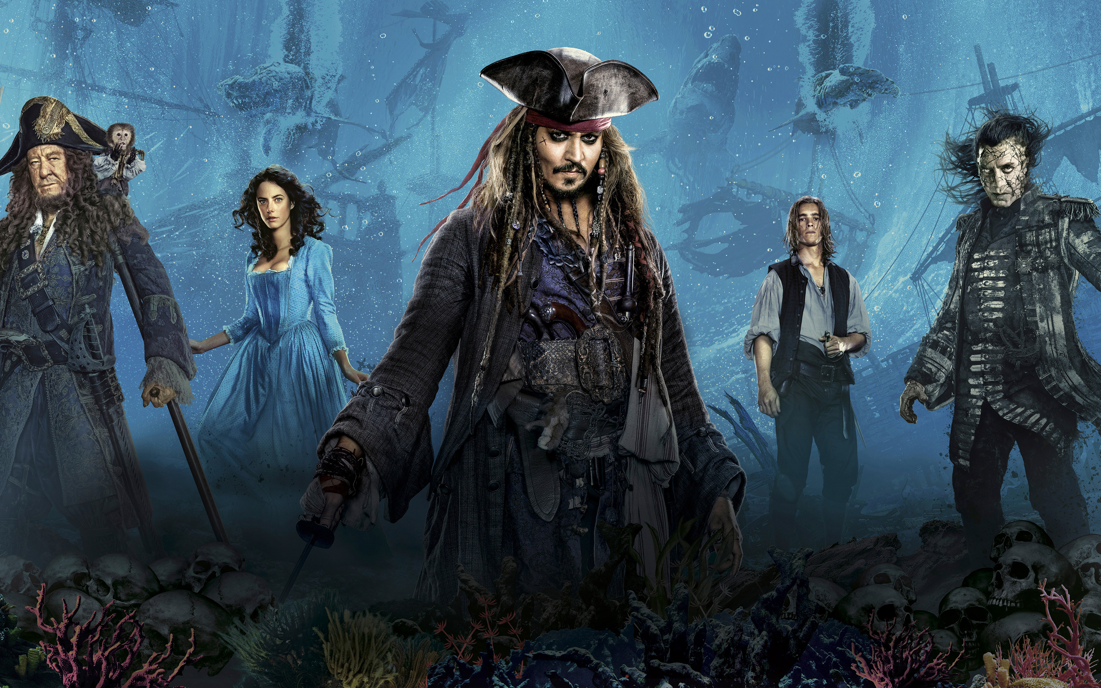 Pirates of the caribbean 5 dead men tell no tales. обои скачать