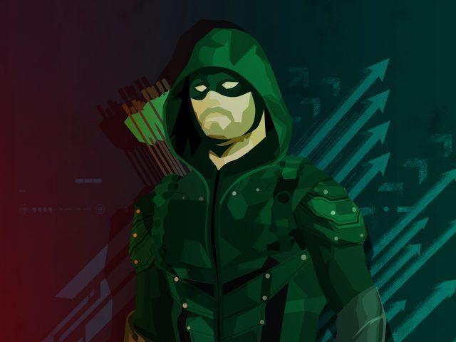 Зеленый минимальный иллюстрации со стрелками