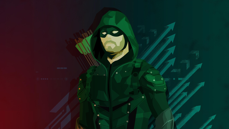 Зеленый минимальный иллюстрации со стрелками обои скачать