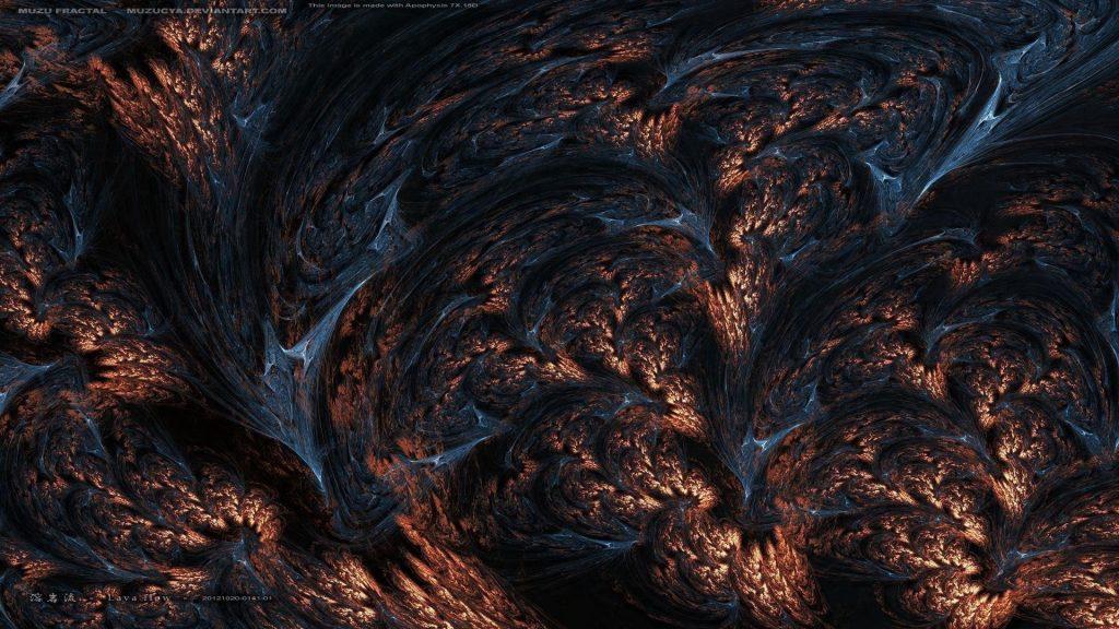 Фракталы бурых пород лавы абстрактные обои скачать