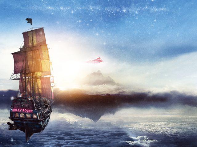 Веселый Роджер пан пиратский корабль.