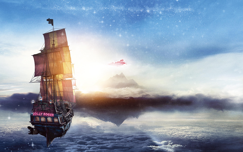 Веселый Роджер пан пиратский корабль. обои скачать