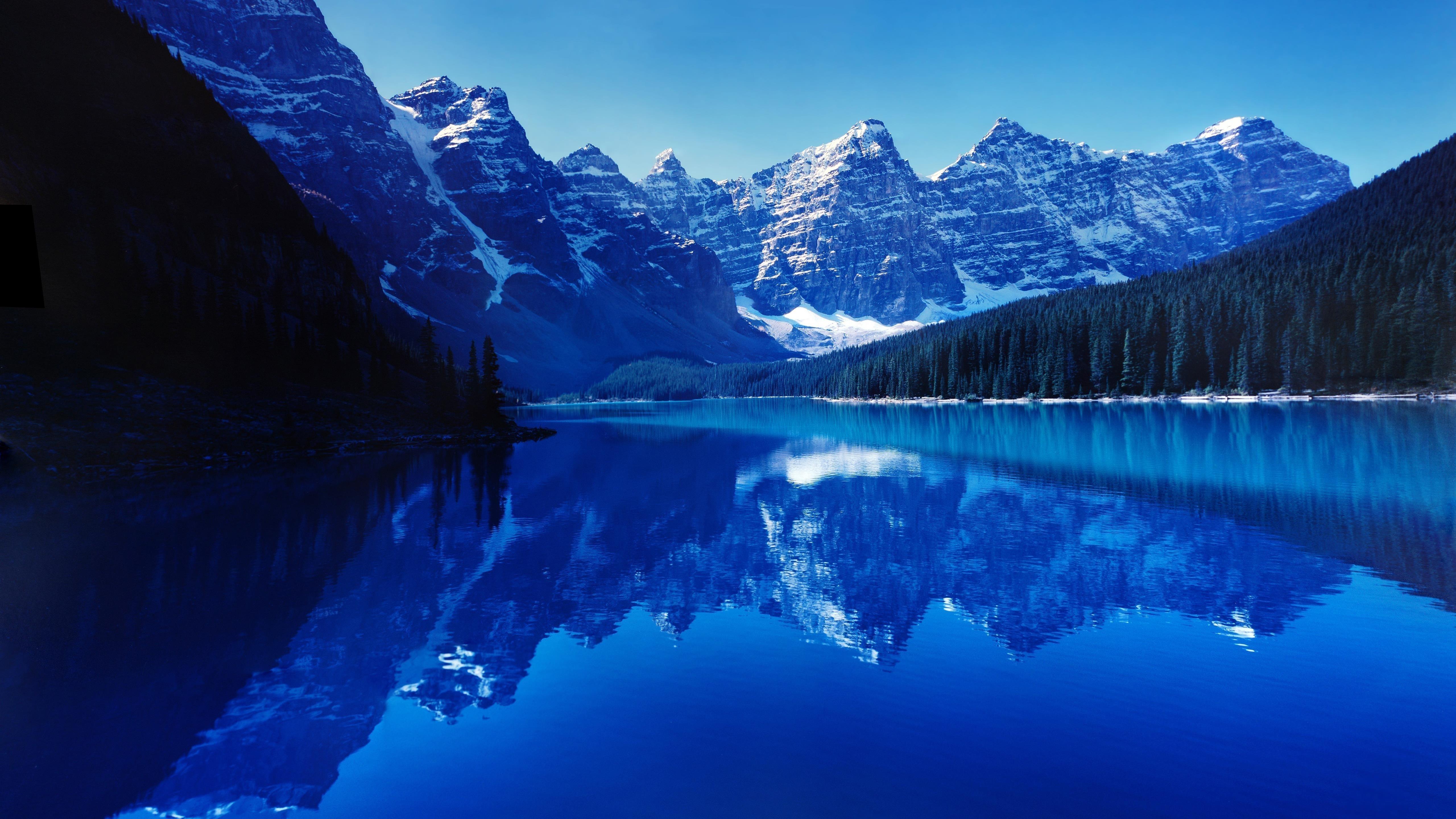 Моренное озеро обои скачать