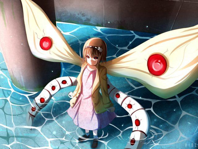 Токийский гуль крылья девушка